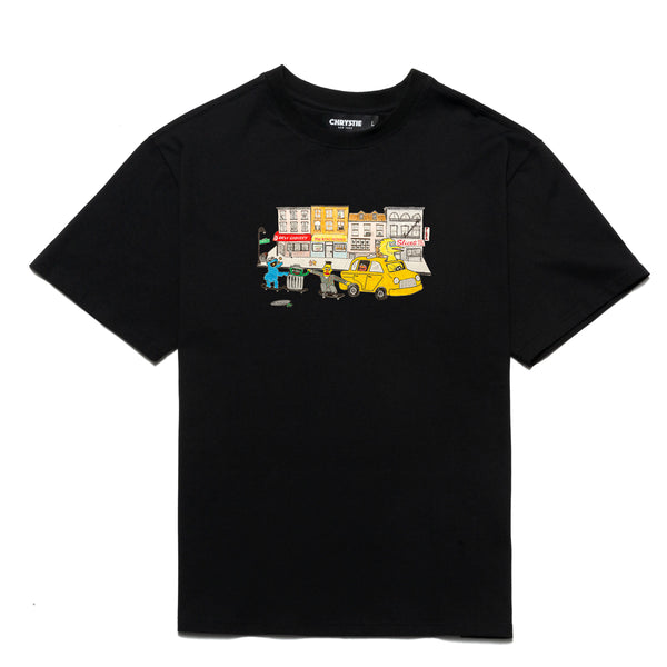 Chrystie NYC Chrystie Street Monsters T-Shirt Black front available at off the hook montreal