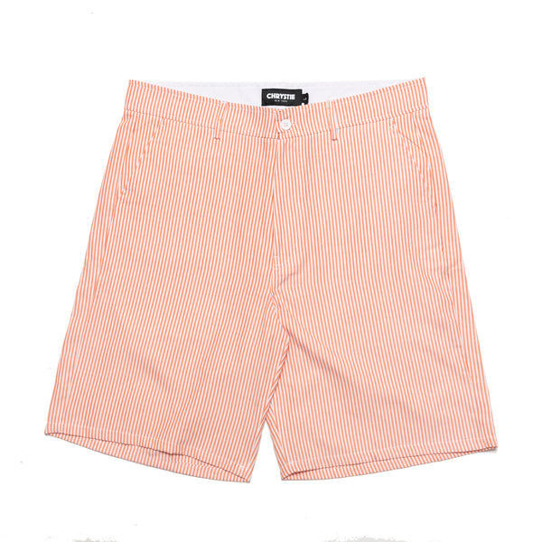 The Chrystie NYC OG Logo Seersucker Short Pants in orange are made in an extra breathable cotton fabric, so you can stay cool on an active day.  Sewn patch branding above the back right pocket round out the details. Now at OTH.