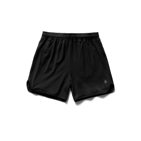 Reigning Champ RC.5267 Knit Tech Mesh Running Short Black - front - available at off the hook montreal
