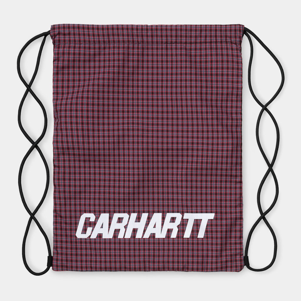 CARHARTT WIP I027625 Alistair Drawstring Bag Black/Etna Red available at off the hook Montreal