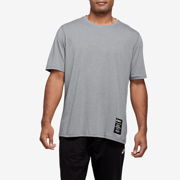 Asics 2031B565 M Branded Graphic Tee Rock - front - available at off the hook montreal