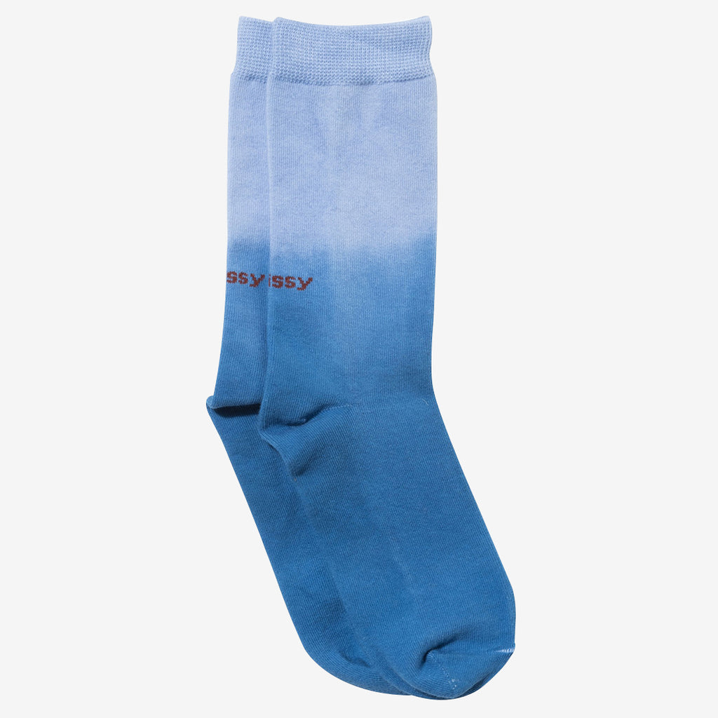 Stussy 138677 Dip Dye Everyday Socks Bleu droit disponible à off the hook montreal