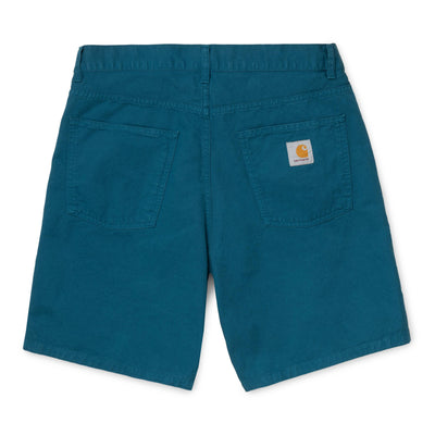 Carhartt WIP Single Knee Short - Moody Blue - Back - Off The Hook Montreal