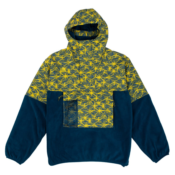 Nike ACG Fleece Anorak Jacket Blue / Yellow