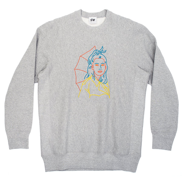 CINEMA VERITE Genevieve Crewneck - Grey - Front - Off The Hook Montreal