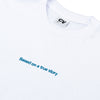 CINEMA VERITE Based On a True Story T-Shirt - White - Details - Off The Hook Montreal