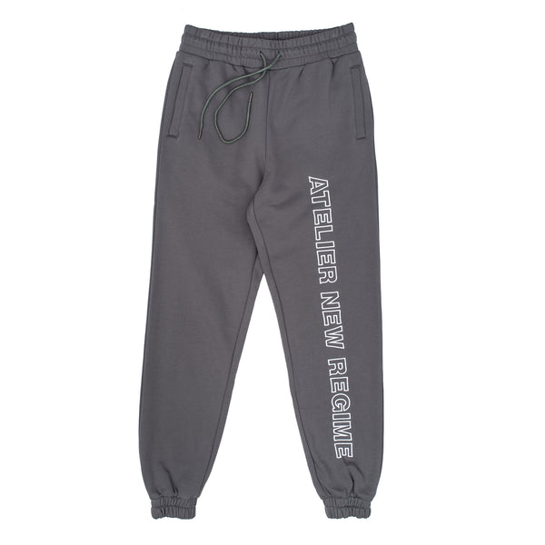 atelier new regime anr logo sweatpants grey white fleece joggers oth off the hook hypebeast