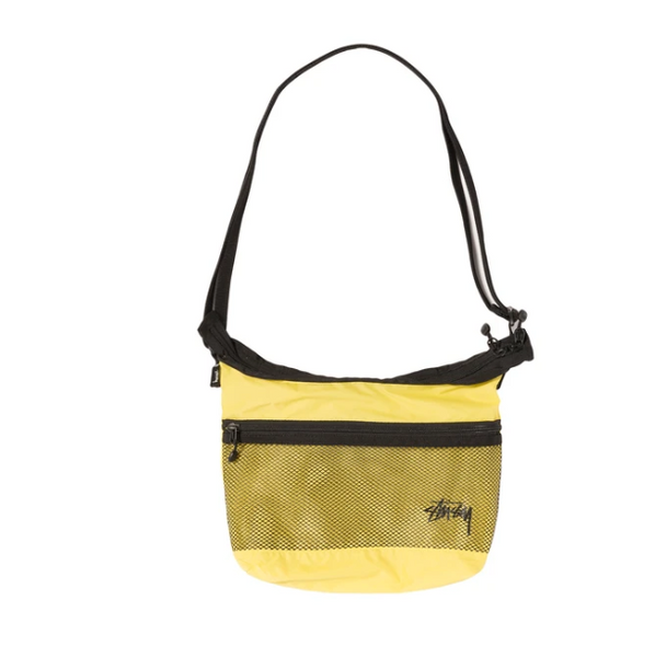 stussy lightweight shoulder bag mesh banane hip side waist oth off the hook crossbody
