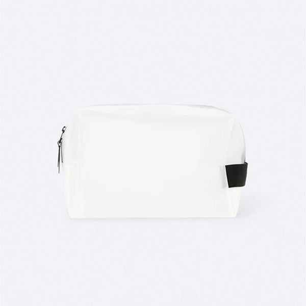 Rains 1559 Wash Bag Foggy White Large - front - available at off the hook montreal