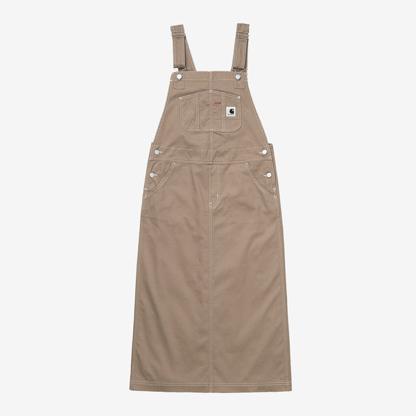 Carhartt I028647 W' Bib Skirt Long Leather front available at off the hook montreal