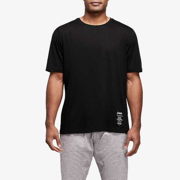 Asics 2031B565 Branded Graphic Tee Black - front - available at off the hook montreal