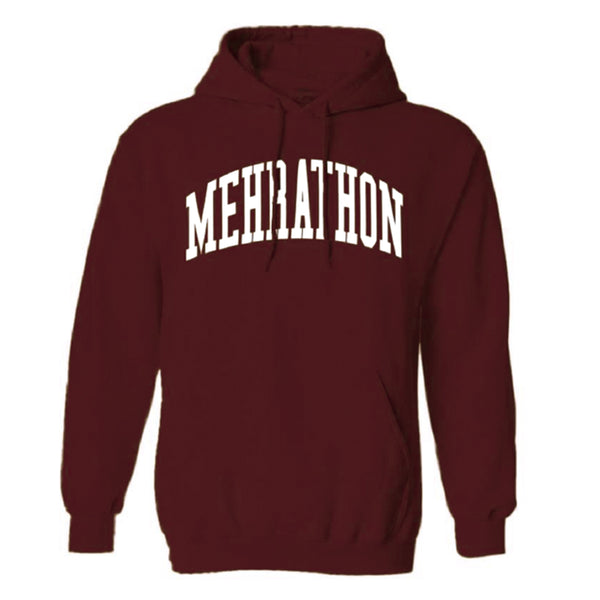 Mehrathon  MEH20FL412-MAR College Pullover Hoodie Maroon front available at off the hook montreal