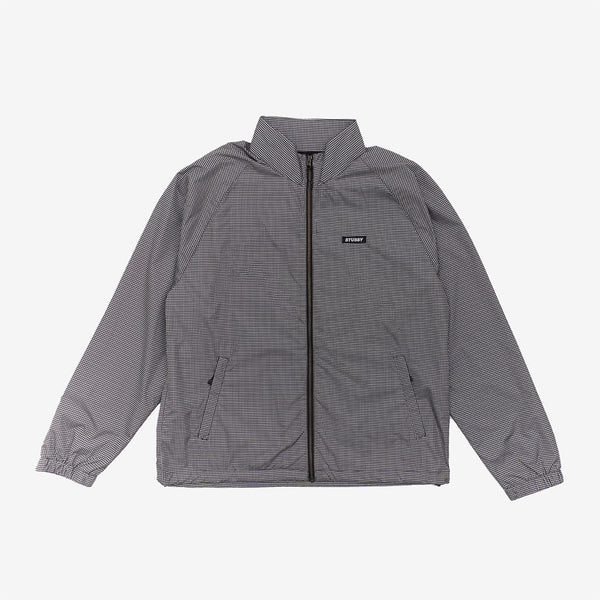 Stussy 115527 Houndstooth Track Jacket Black front available at off the hook montreal