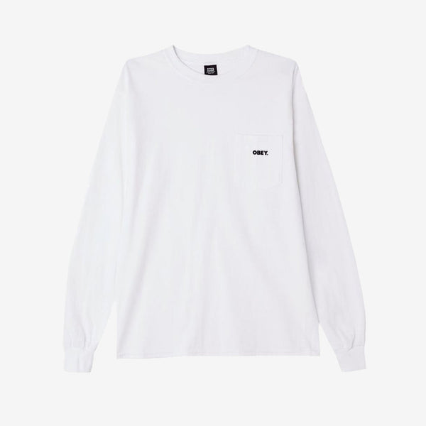 Obey Bold LS T-shirt White front available at off the hook montreal