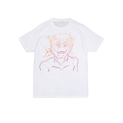 Our Constant Elevation collection is here to expand your consciousness (and wardrobe). The Bakshi T-Shirt in White features our Constant Elevation logo across the front, and a very elevated goblin graphic inspired by one of our favorite cartoonists, Ralph Bakshi.   Product code: CE.08  off the hook oth streetwear boutique canada montreal