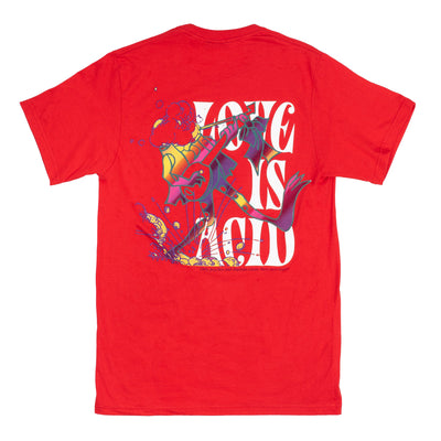 OTH Love is Acid T-Shrit - Red - Back - Off The Hook Montreal