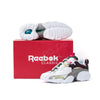 Reebok x OTH Electro 3D 97 White / Eggplant fv2745 Inspired by Montreal's moody climate and the struggle to stay fresh in the wintertime, this sneaker is an embodiment of Montrealers' risk-taking behaviour, ready to dirty their freshest sneakers during the month-long snowbreak. off the hook oth streetwear boutique canada montreal sneakers shoes collab