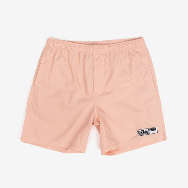 Designed with simplicity in mind, the OTH Summer 2020 capsule offers clean looks so you can rep the team all season. The 90's Beach Short in Pink sport an above the knee fit, and lightweight construction to keep you cool.  100% Cotton Embroidered patch logo off the hook oth streetwear boutique canada