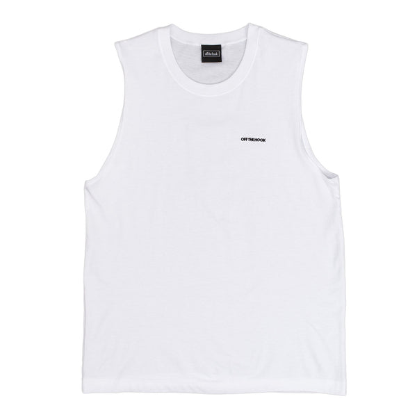 Designed with simplicity in mind, the OTH Summer 2020 capsule offers clean looks so you can rep the team all season. The OTH Summer Tank Top in White comes in a regular, with wide arm hole for peak comfort.  100% Cotton Embroidered logo Product code: SUMMER11-WHT off the hook oth streetwear boutique canada montreal