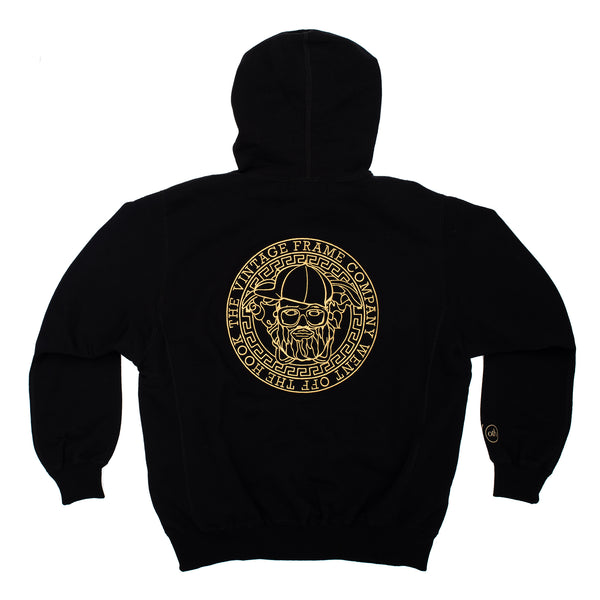 Vintage Frames Went Off The Hook Hoodie With Zipper Black