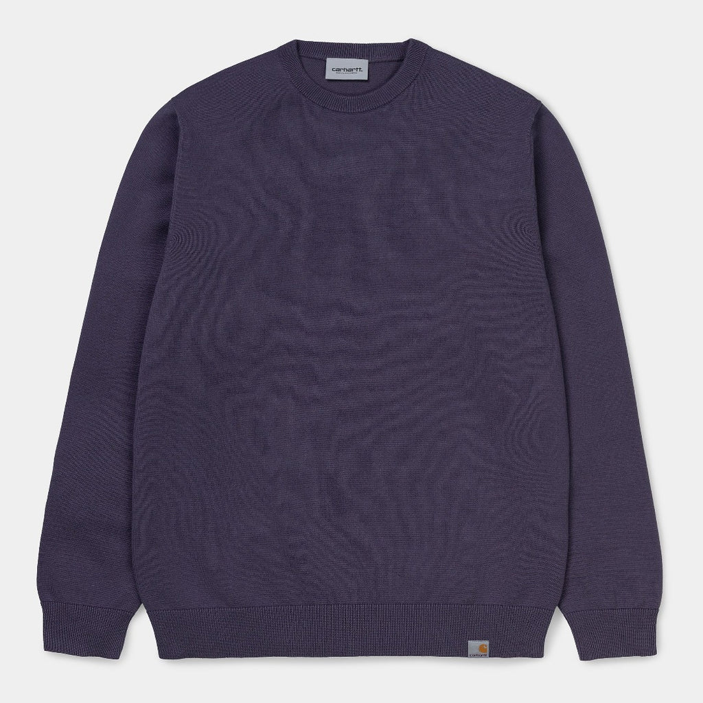 Carhartt WIp I024643 Playoff Sweater Decent Purpleis now available at off the hook montreal