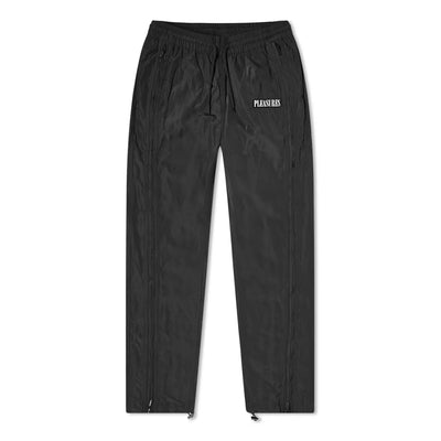 Pleasures P20F019 Blast Side Zip Track Pant Black front available at off the hook montreal