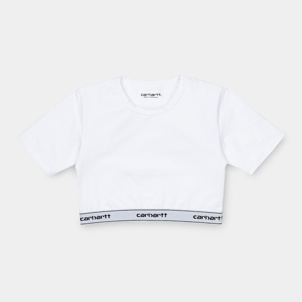 Carhartt WIp I027559 Script Crop Top White/Black W is now available at off the hook montreal
