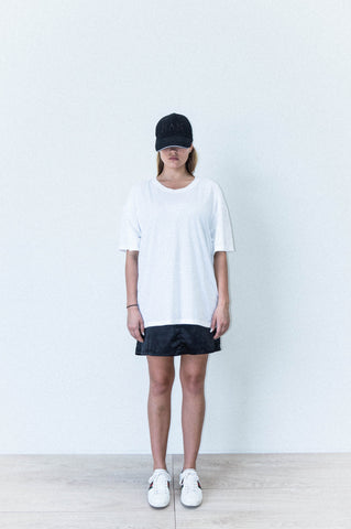 HAN BOX CUT TEE IN WHITE BRUSHED COTTON