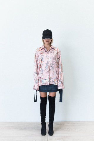 LAPEL SHIRT IN THREE PART FLORAL PRINT