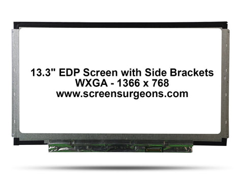 Dell Latitude E3340 Screen with Side Brackets N133BGE-E31 - Screen Surgeons