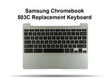 Samsung Chromebook 503C Replacement Keyboard, Palmrest, Touchpad Assembly