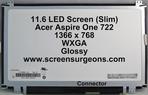 "11.6"" LED UPDN Backlight Laptop LCD Panel - Screen Surgeons"