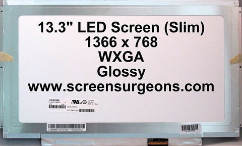 "13.3"" LED Backlight Laptop LCD Panel (Slim) - Screen Surgeons"