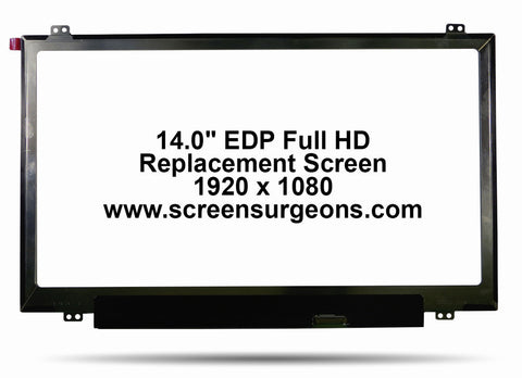 "14.0"" EDP Full HD Replacement Screen - Screen Surgeons"