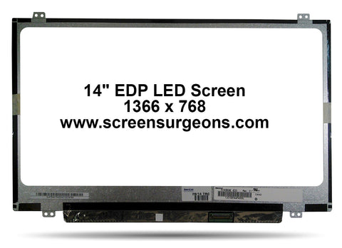 "14.0"" LED EDP Backlight Laptop LCD Panel - Screen Surgeons"