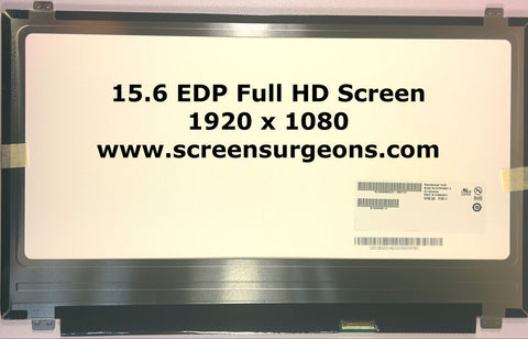 "15.6"" EDP Full HD Laptop Replacement Screen with LED backlight - Screen Surgeons"