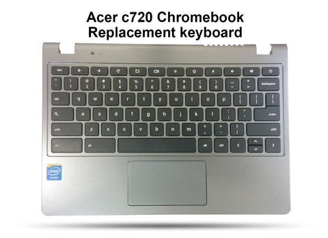 Acer Chromebook C720 Replacement Keyboard, Palmrest, Touchpad Assembly