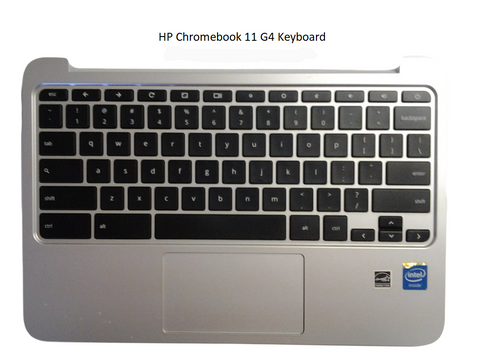 HP Chromebook 11 G3 G4 Replacement Keyboard Assembly, Gray - Screen Surgeons
