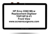HP Pavilion X360 15t-w000 15-ab292nr Replacement Digitizer TOP15P18-V1 - Screen Surgeons