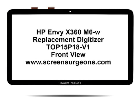 HP Pavilion X360 15t-w000 15-w100 15-ab292nr Replacement Digitizer TOP15P18-V1