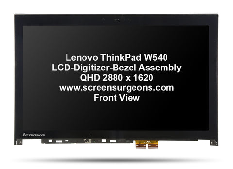 Lenovo ThinkPad W540 LCD-Digitizer-Bezel Assembly - Screen Surgeons