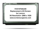 Lenovo Thinkpad W540P W540 W550S T540 VVX16T028J00 3K Replacement LCD Screen - Screen Surgeons