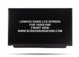 Lenovo X240S Replacement FHD Screen (FRU 04X3922) - Screen Surgeons