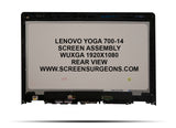 Lenovo Yoga 700-14 Replacement FHD Screen Assembly - Screen Surgeons