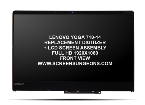 Lenovo Yoga 710-14 Replacement Digitizer - FHD LCD Screen Assembly - Screen Surgeons