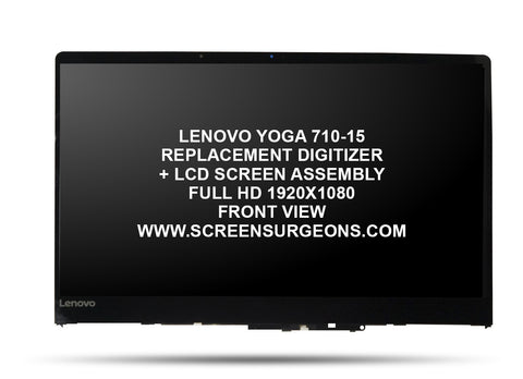 Lenovo Yoga 710-15 Replacement Digitizer - FHD LCD Screen Assembly - Screen Surgeons