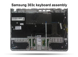 Samsung Chromebook 303c Replacement Keyboard, Palmrest, Touchpad Assembly - Screen Surgeons