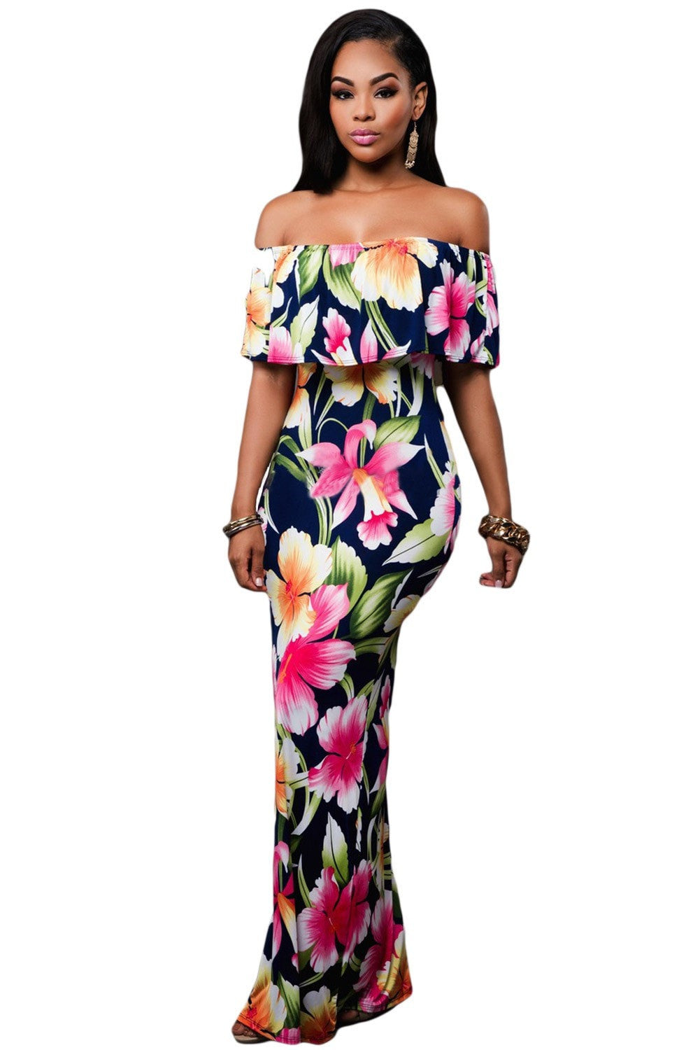 Faith Flowing Floral Maxi Dress - Budget Babe Couture
