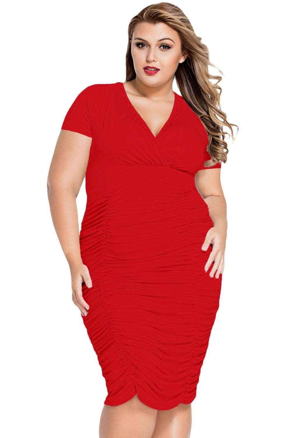 Sophia Curvaceous Cherry Dress - Budget Babe Couture
