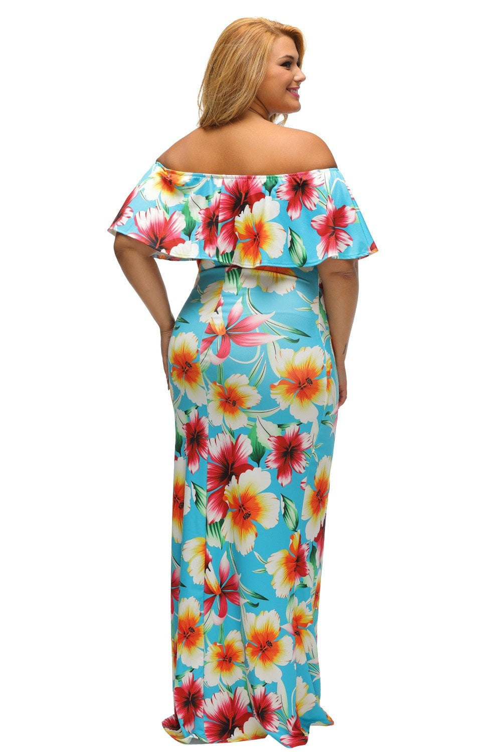 Faith Flowing Floral Maxi Dress Plus XL (1X) - Budget Babe Couture